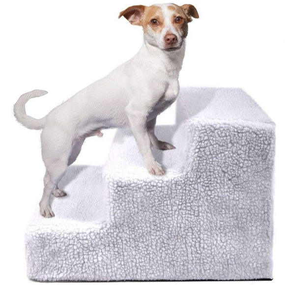 HEYPET Removable Dog Stairs 3 Steps Anti-slip
