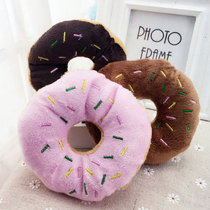 Donut Squeaky Play Toy For Dog