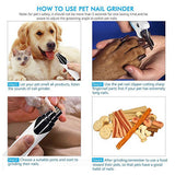 USB Charging Dog Nail Grinders Rechargeable  Quiet Electric