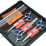 "Meisha 6.0"" Professional Pet Grooming Scissors Set Straight Curved"
