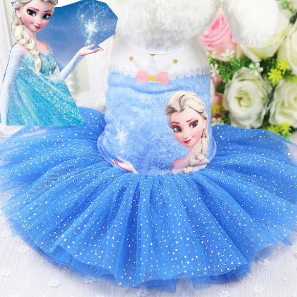 Character Design Tulle Ruffle Pet Dress