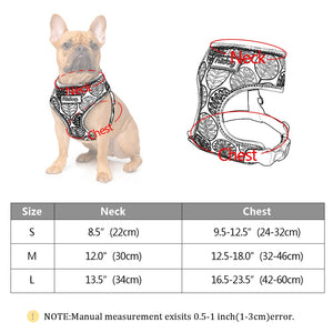 Nylon Dog Cat Harness Colorful Printed  Harness