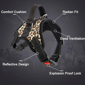 New  Dog Harness  Reflective Tape Breathable Mesh Leash