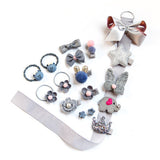 18pcs/set Hairpins Accessories For Dogs Pink Black Boy Girl