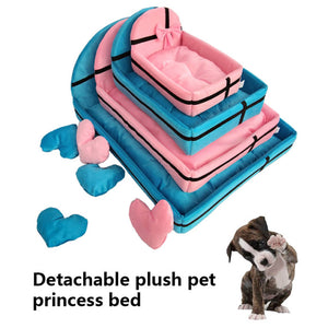 Dog Bed Detachable Soft Warm Cotton Mat