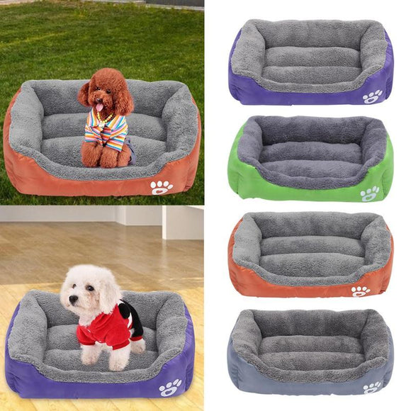 Dog Bed  Waterproof Bottom  Warm Soft Fleece