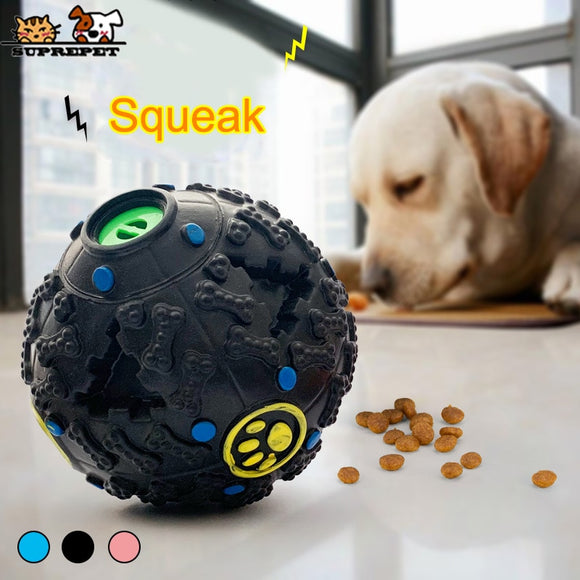 SUPREPET Soft Dog Ball  Interactive Squeak Slow Feed