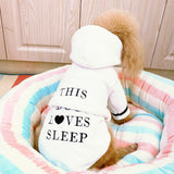 Cute Pet Soft Clothes Hooded Robe Pajamas