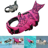 Mermaid Shark Dog Life Jacket Swimming Vest