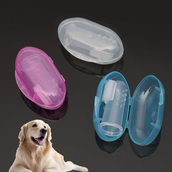 1pc Rubber Pet Finger Silicone Toothbrush