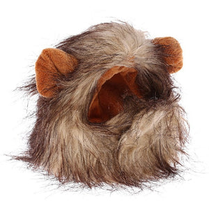 Funny Pet Cat Costume Lion Mane Wig With Ears