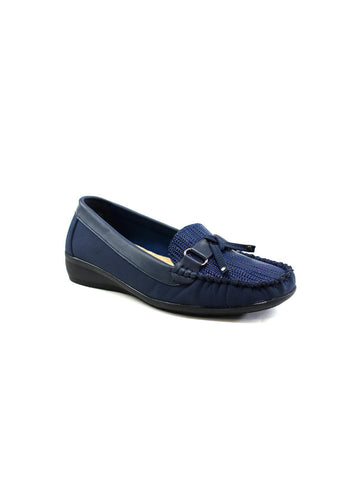 Helen Bow Leather Navy