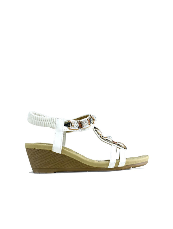 Summer Slingback Wedge White - Global Planet