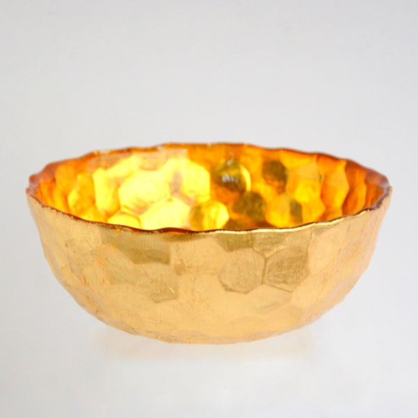 "HIVE 6"" Amber/Gold Bowl - Global Planet"