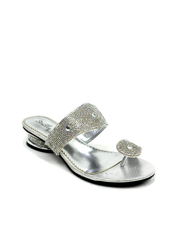 Indian Style Toe Post Sandal Silver