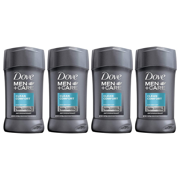 Dove Men+Care Antiperspirant Deodorant Stick Clean Comfort 2.7 oz 4 count - Global Planet