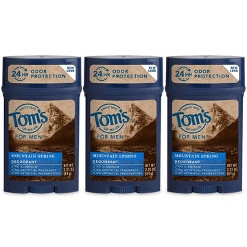 Tom's of Maine Men's Long Lasting Wide Stick Deodorant, Deodorant for Men, Natural Deodorant