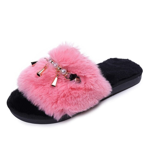 Home Slippers Woman Soft Plush Shoes Coral Velvet - Global Planet