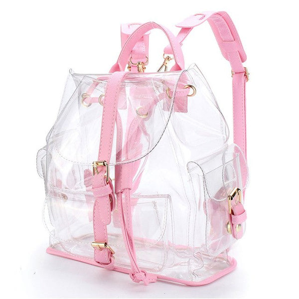 Backpack Women's Clear Plastic See Through - Global Planet