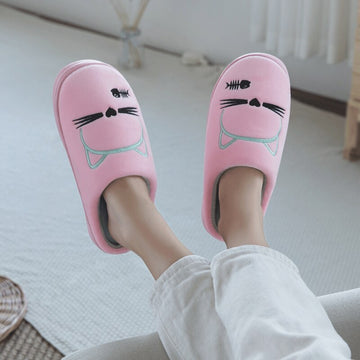 Fluffy Fur Slippers Unisex Winter House
