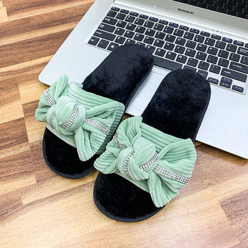Women Furry Slippers Shoes Woman Warm Winter