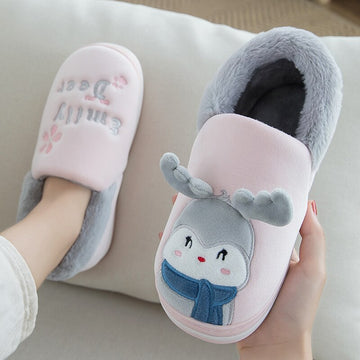 Women Home Slippers Unisex Warm Winter Soft