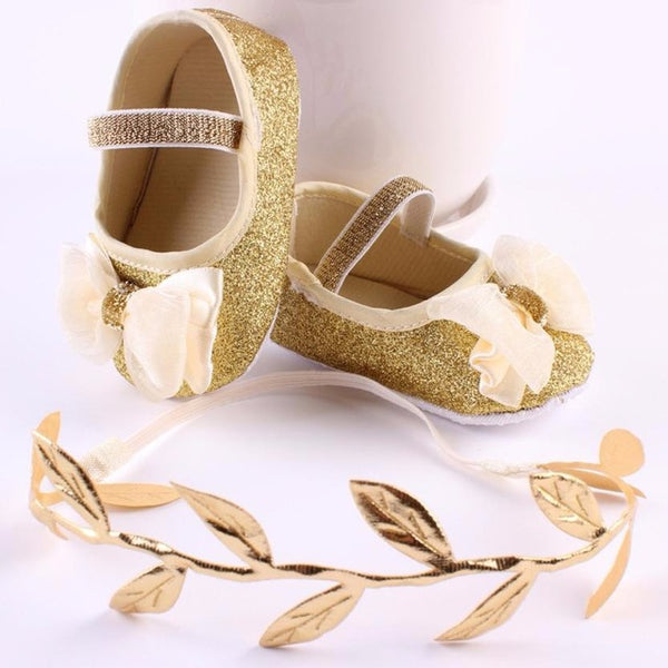 Shoes Baby Chiffon Bowknot Girl Shiny Sequins - Global Planet