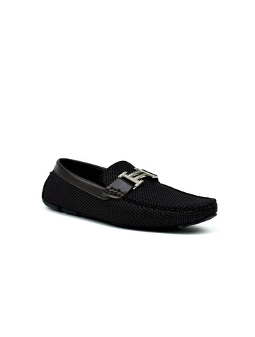 Double H Buckle Loafer Brown
