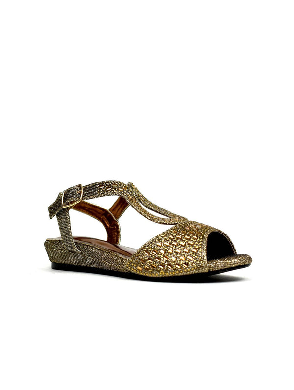 Low Wedge Glamour Bronze - Global Planet