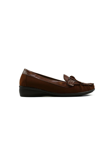 Helen Bow Leather Brown