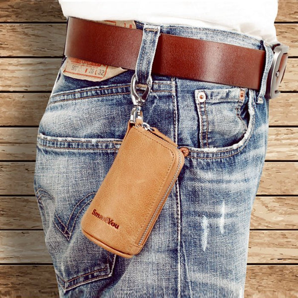 Leather Keychain Wallet - Global Planet