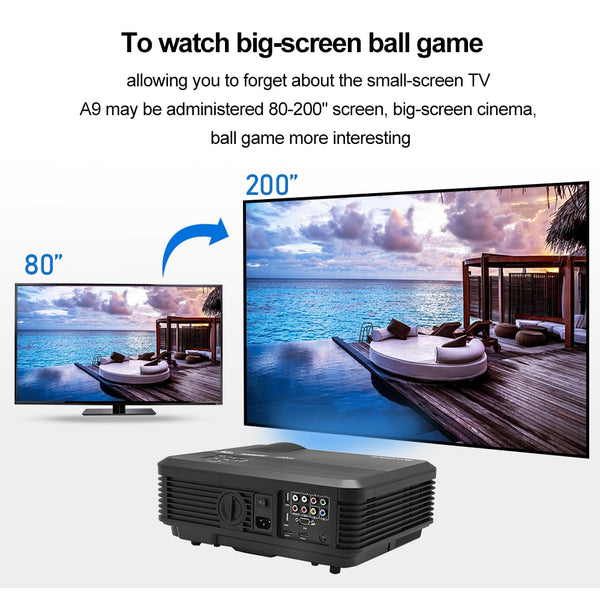CAIWEI A6/A6AB 1080p Projector Full HD Home Projector