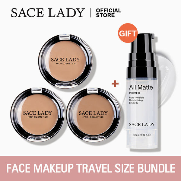 SACE LADY Full Cover Concealer Cream Face Contour Makeup Corrector + Face Base Primer Makeup Liquid Matte Make Up Primer - Global Planet
