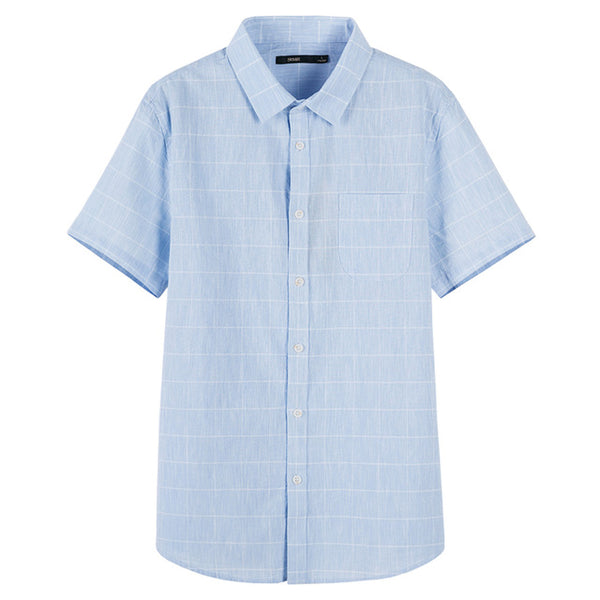Men's Cotton Shirt Short Sleeve Casual - Global Planet