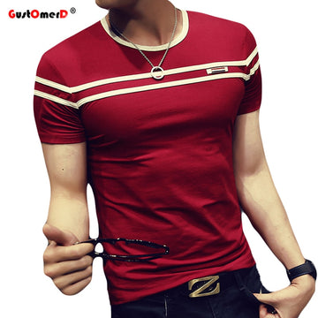 T-Shirt Men Solid Color Fashion