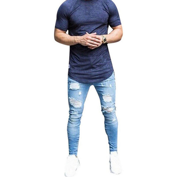 Jeans Skinny Distressed Jeans Denim - Global Planet