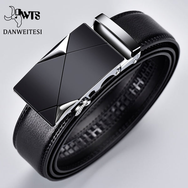 Men Top Quality Automatic Buckle black Belts - Global Planet