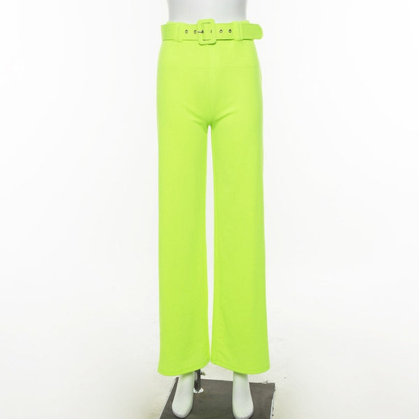 Wide Leg Pants High Waist - Global Planet