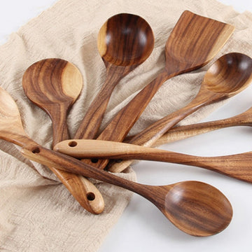 Non-stick Dinnerware Cutlery Set Wooden Cookware