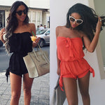 Womens Celeb Sexy Mini Playsuit Ladies Jumpsuit Summer Shorts Beach Sun enteritos cortos mujer 2017 - Global Planet