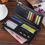 top brand wallet men  Long Bifold Business Leather - Global Planet