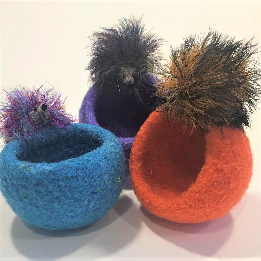 Hand Felted Bowls and Dishes