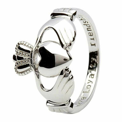 Sterling Silver Claddagh Ring 'Love, Loyalty, Friendship'