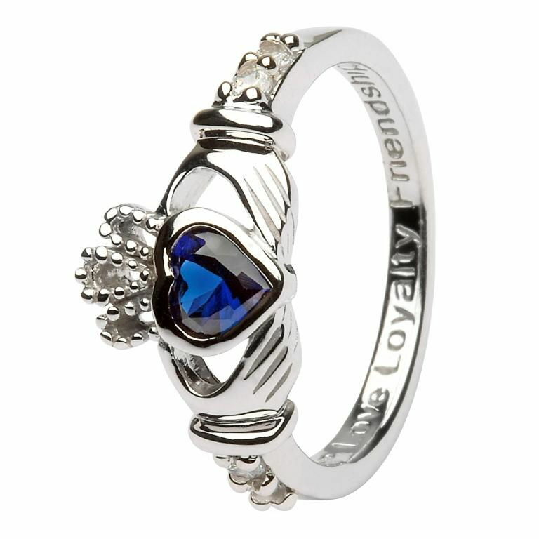 Birthstone Claddagh Ring - September