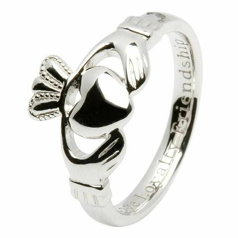 Sterling Silver 'Comfort Fit' Claddagh Ring