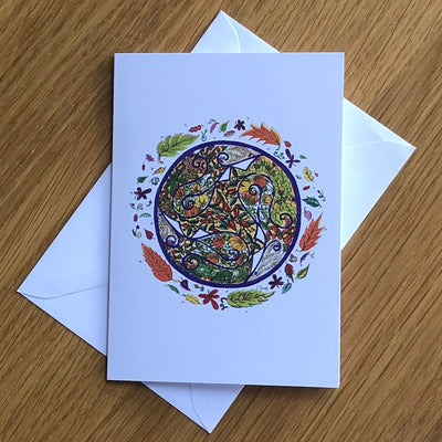 Celtic Autumn Greetings Card
