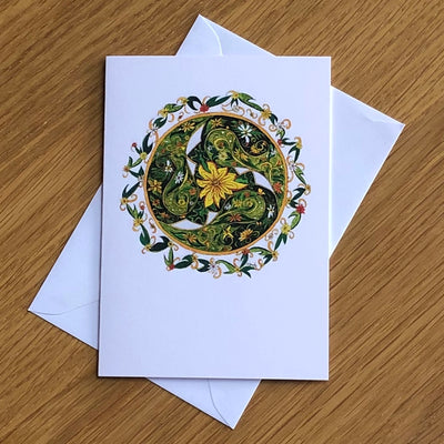 Celtic Spring Greetings Card