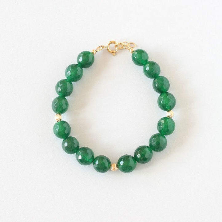 Green Agate Bracelet (Gold)