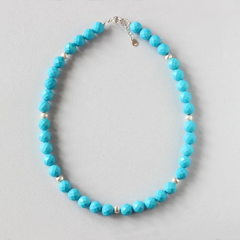 Turquoise Necklace (Silver)