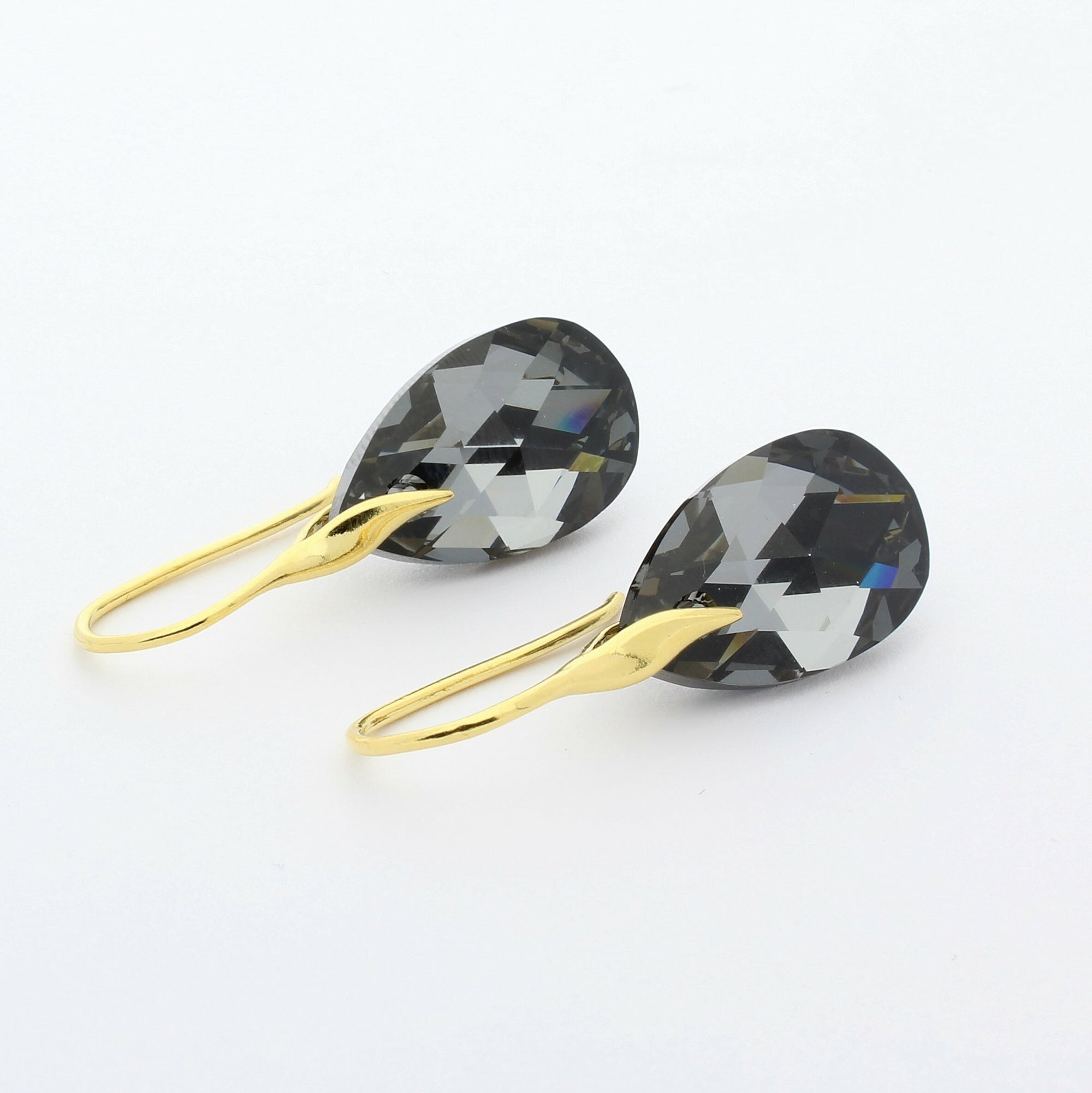 Silver Night Drop Earrings (Gold)